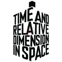Doctor Who Time Dimension Space Tardis Decal Sticker
