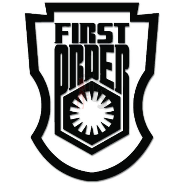 First Order Stormtrooper Shield Emblem Decal Sticker