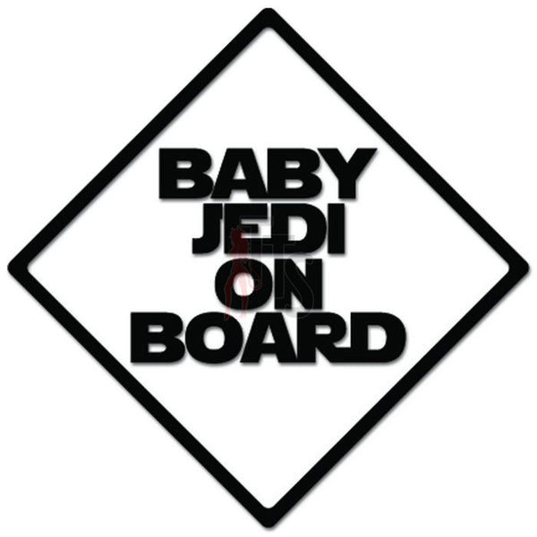 Baby Jedi On Board Decal Sticker Style 2