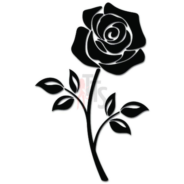 Rose Flower Decal Sticker Style 26