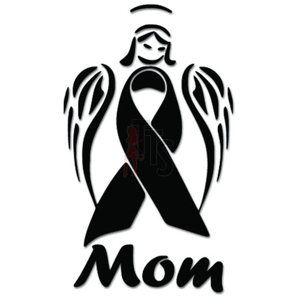 Cancer Awareness Angel Ribbon Mom Decal Sticker
