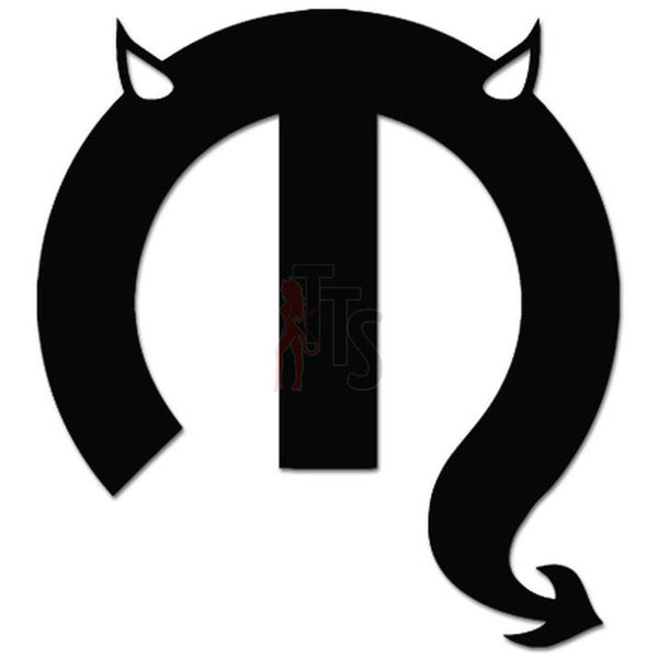 Devil Devil Horns Auto Racing Decal Sticker