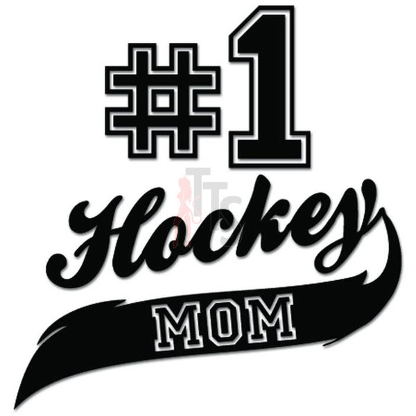 Best Hockey Mom #1 Sports Decal Sticker