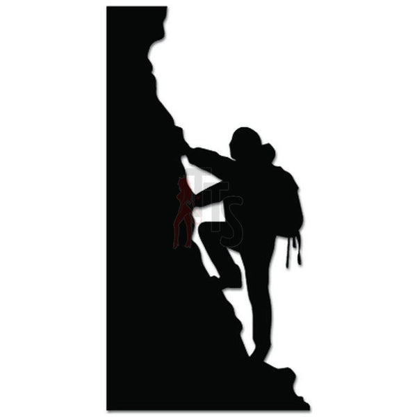 Rock Climber Climbing Mountain Decal Sticker