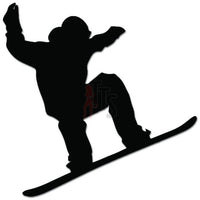 Snowboarder Jumping Snowboarding Decal Sticker