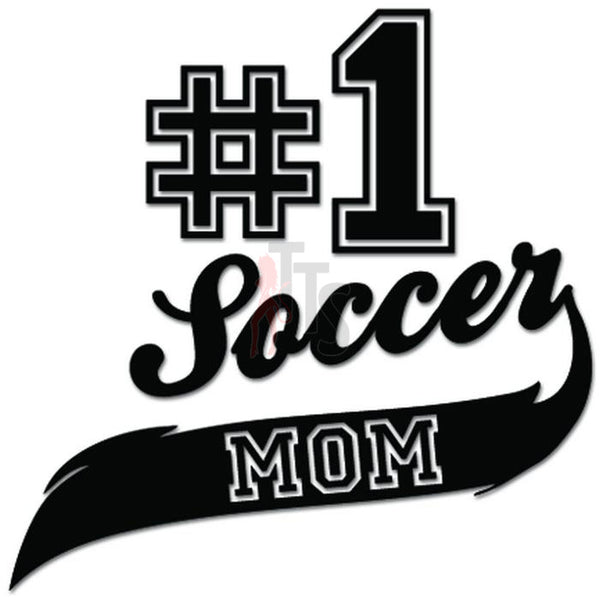 Best Soccer Mom #1 Sport Futbol Decal Sticker