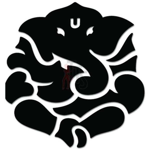 Lord Ganesha Yoga Hindu Elephant God Decal Sticker Style 2