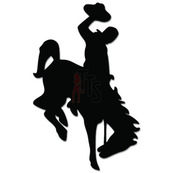 Rodeo Cowboy Horse Decal Sticker