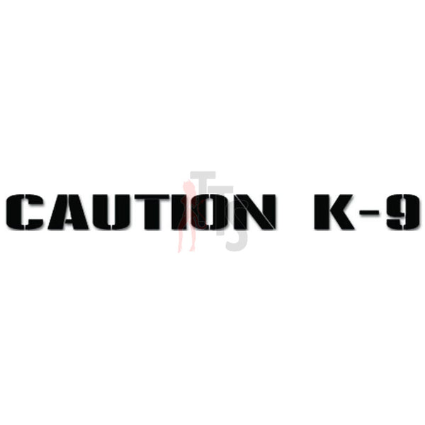 Caution K-9 German Shepherd Dog Police Pet Owner Decal Sticker