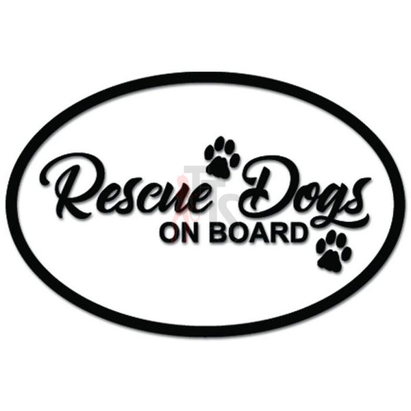 Rescue Dogs On Board Pet Decal Sticker