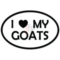 I Love My Goats Heart Farm Animal Decal Sticker
