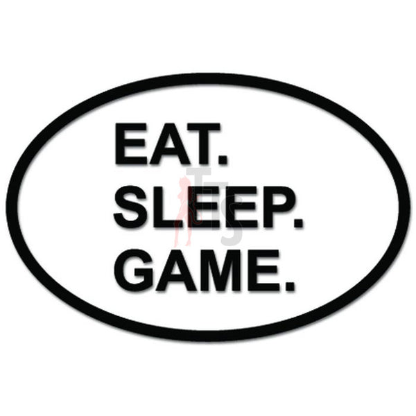 Eat Sleep Game Gaming Daily Activity Decal Sticker