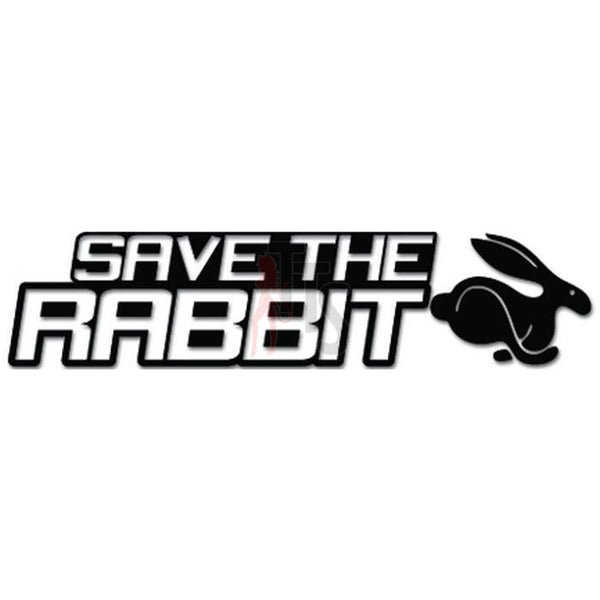 Save The Rabbit European Auto Decal Sticker