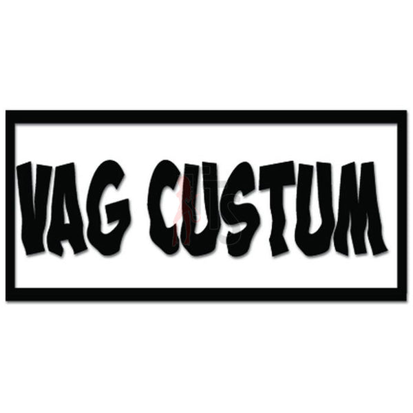 Euro Europen VAG Custum Decal Sticker