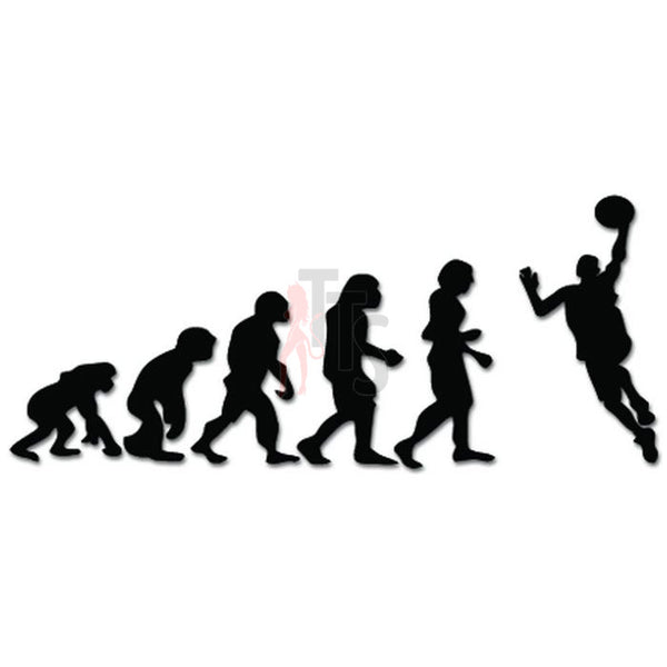 Evolution Of Basketball Player Sports Decal Sticker