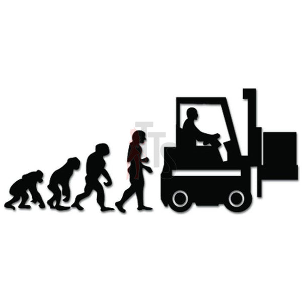 Evolution Of Forklift Driver Decal Sticker