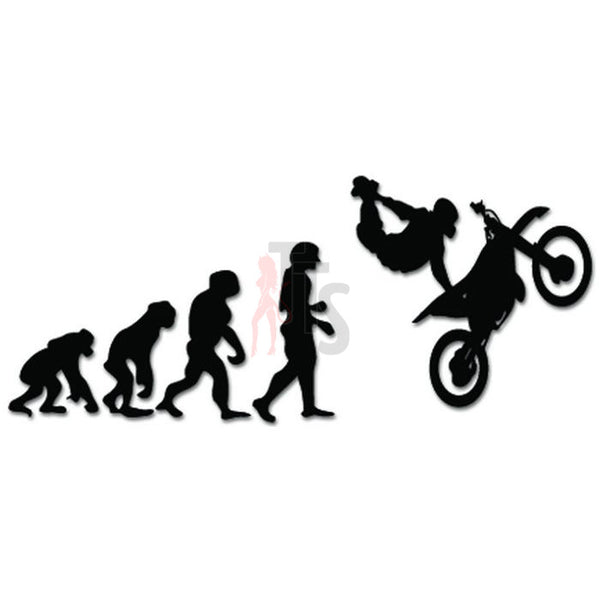 Evolution Of Dirt Bike Motocross Rider Decal Sticker