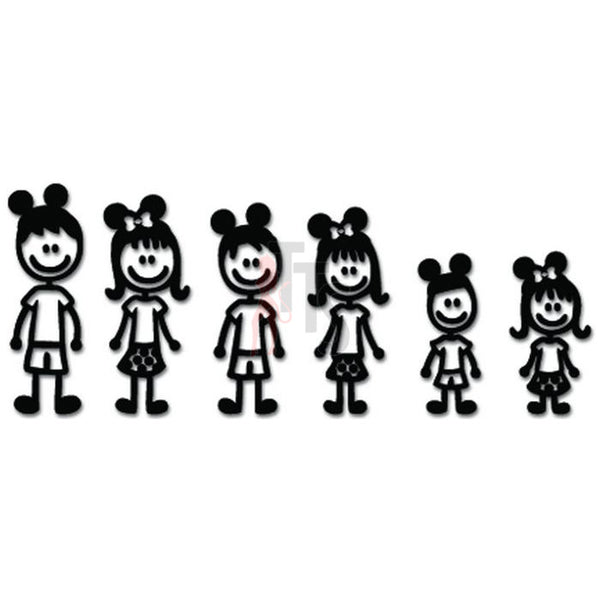 Mickey Stick Family Decal Sticker