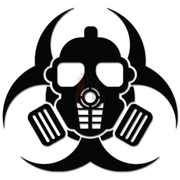 Zombie Outbreak Gas Mask Biohazard Decal Sticker