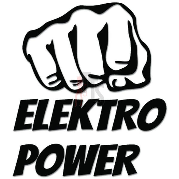 Elektro Power Electrical Decal Sticker