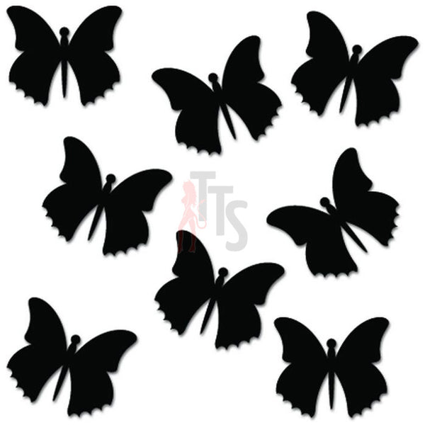 Flying Butterflies Butterfly Decal Sticker Style 1