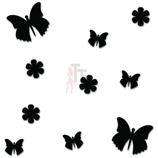 Flying Butterflies Butterfly Decal Sticker Style 2