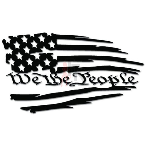 We The People American USA Flag Decal Sticker