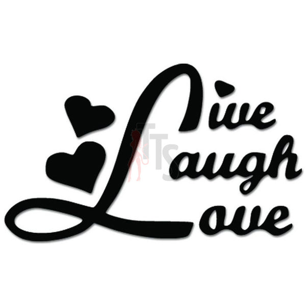 Live Laugh Love Hearts Decal Sticker