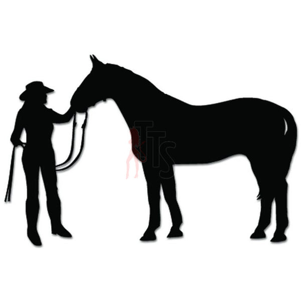 Cowgirl Horse Farm Decal Sticker