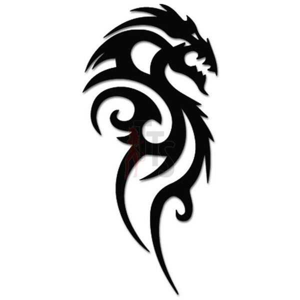 Tribal Dragon Tattoo Decal Sticker Style 1