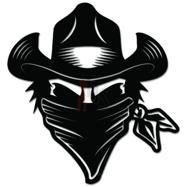 Cowboy Bandit Outlaw Decal Sticker
