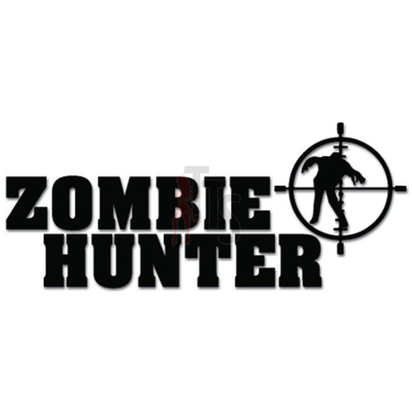 Zombie Hunter Sniper Crosshair Gun Decal Sticker