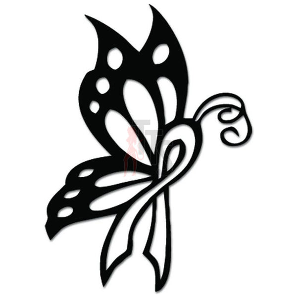 Butterfly Insect Cancer Ribbon Decal Sticker