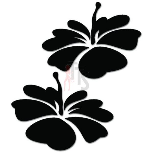 Hibiscus Flower Hawaii Decal Sticker Style 15
