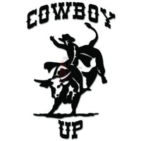 Cowboy Up Bull Bullriding Rodeo Western Decal Sticker