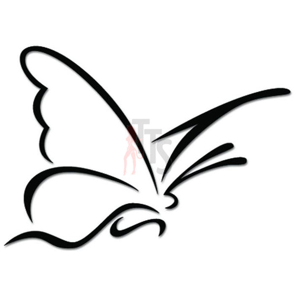 Beautiful Butterfly Insect Drawing Decal Sticker Style 2