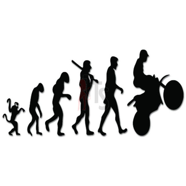 Evolution of Motocross Ape Human Sport Decal Sticker