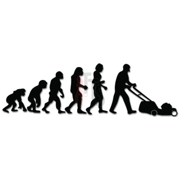 Evolution of Lawnmower Man Ape Human Decal Sticker