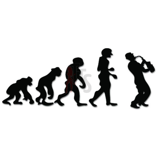 Evolution of Saxophone Player Music Musician Decal Sticker