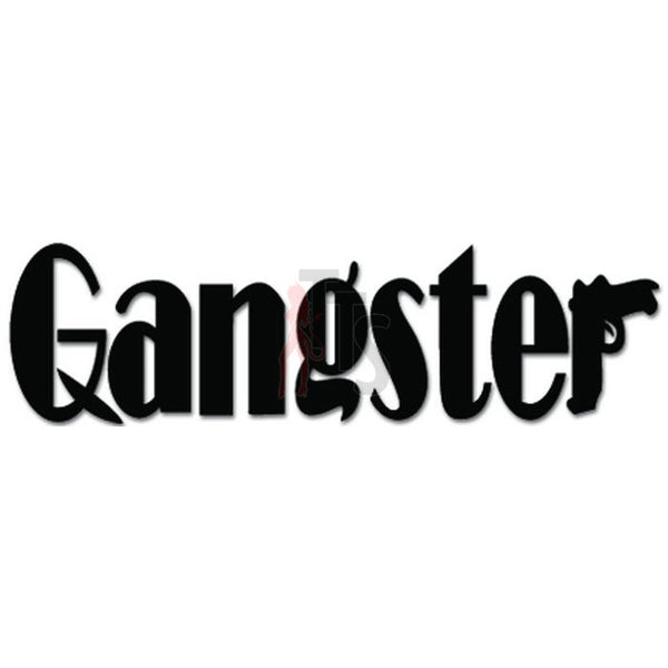 Gangster Mafia Gun Pistol Decal Sticker