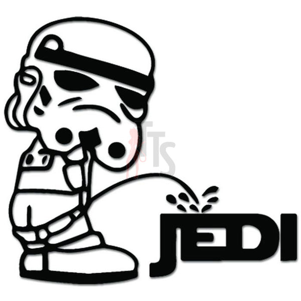 Stormtrooper Piss On Jedi Inspired Decal Sticker