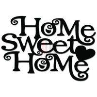 Home Sweet Home Love Heart Decal Sticker