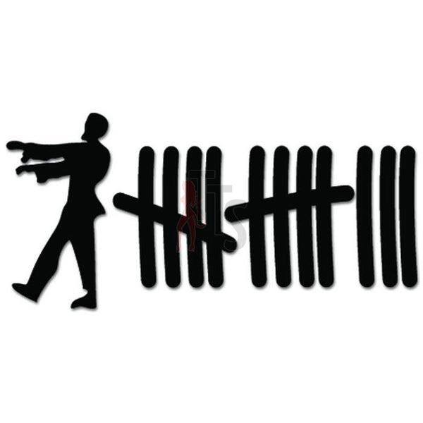 Zombies Kill Count Tally Marks Decal Sticker