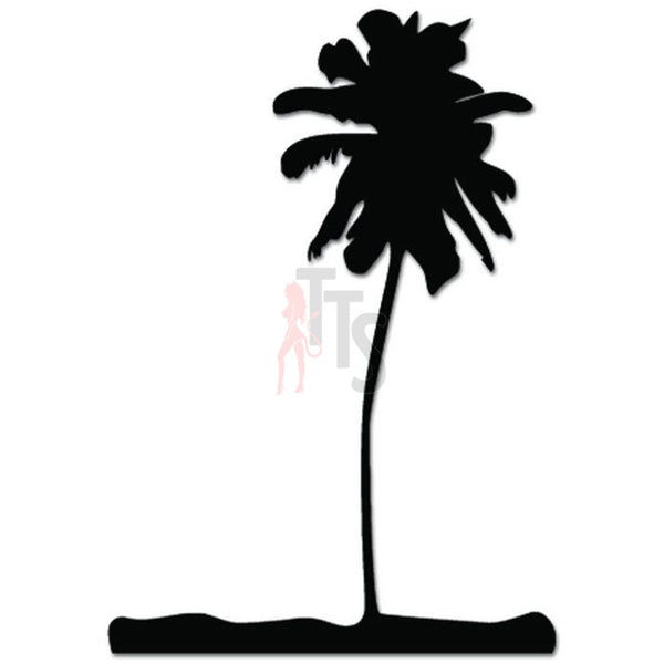 Coconut Palm Tree Beach Decal Sticker Style 2