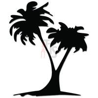 Coconut Palm Tree Beach Decal Sticker Style 3