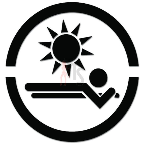 Sun Tanning Salon Summer Decal Sticker