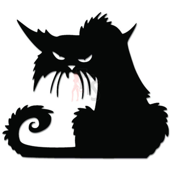 Angry Mean Alley Cat Kitten Decal Sticker