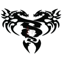 Tribal Double Dragon Decal Sticker Style 1