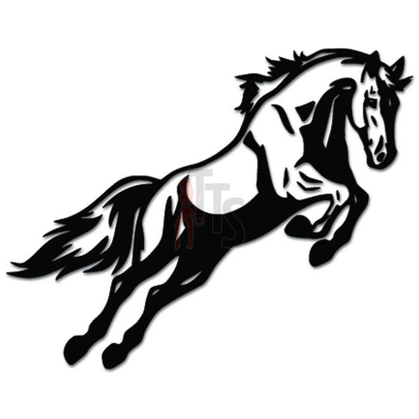 Horse Jumping Decal Sticker