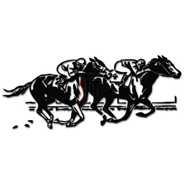 Horse Racing Track Jockey Decal Sticker Style 3